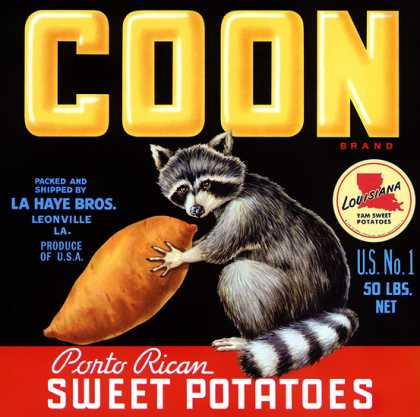 Coon Sweet Potatoes, c. 			s (1940)