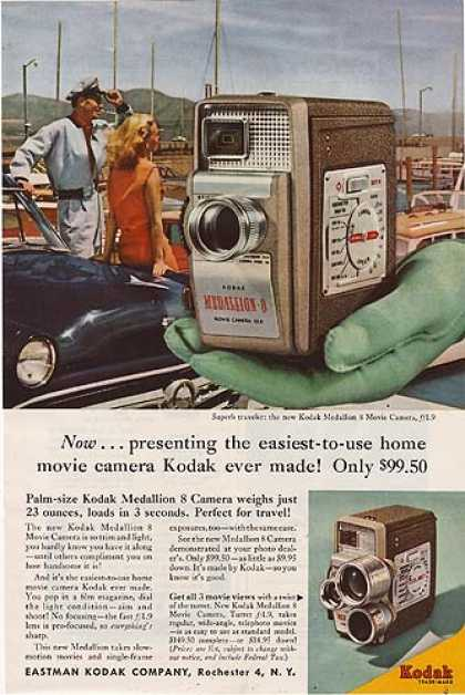 Kodak's Medallion 8 Movie Camera (1957)