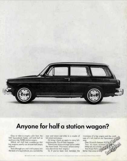 Vw Volkswagen Squareback Sedan Car (1967)