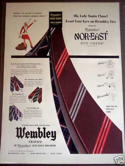 Wembley Mens Ties for X-mas Fashion (1939)