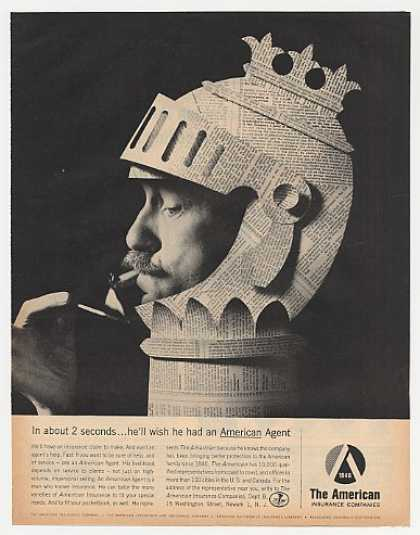 American Insurance Man Smoking in Paper Armor (1962)
