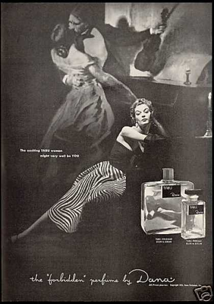 Exciting Pretty Tabu Women Dana Perfume (1953)