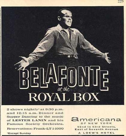 Harry Belafonte Royal Box Americana (1962)