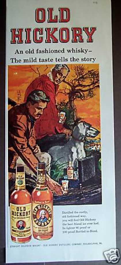 Art By B. Peak Old Hickory Whisky (1958)