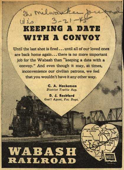 Wabash Railroad – Keeping A Date With A Convoy (1945)