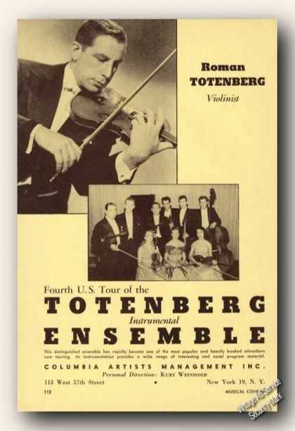 Roman Totenberg Photo Violin/ensemble Music (1957)
