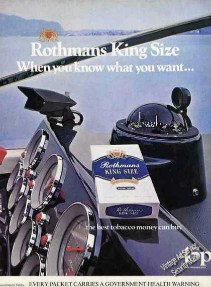 Rothmans King Size Cigarettes Powerboat Uk (1976)
