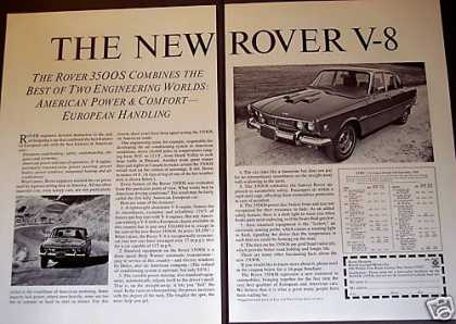 New Rover V-8 3500s Car Photo (1969)