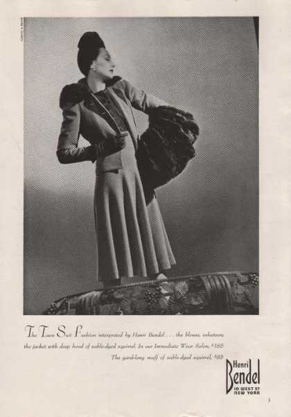 Henir Bendel Fashion Sable Dyed Squirrel A (1939)