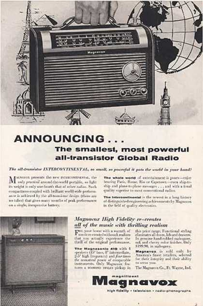 Magnavox's Intercontinental Global Radio (1957)