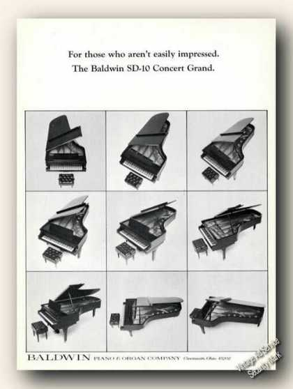 Baldwin Sd-10 Concert Grand Photos Ad Rare (1967)