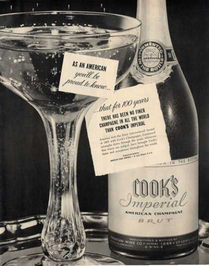 Cook's Imperial Champagne Bottle (1950)