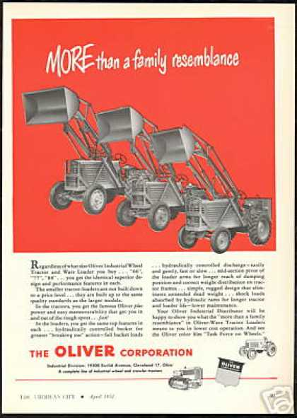 Oliver Industrial Wheel Tractor Ware Loader (1951)