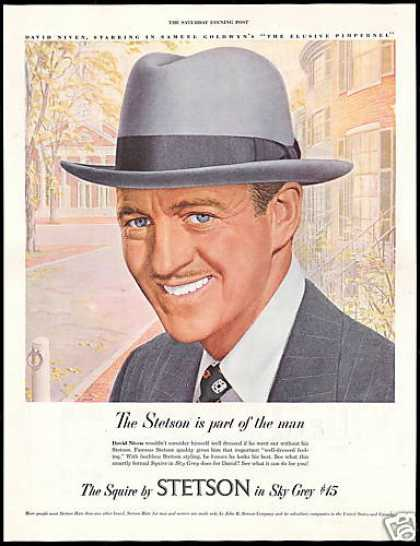 Stetson Squire Mens Hat David Niven (1949)
