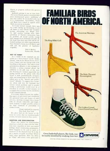 Familiar Birds Converse All Stars C 1/2 Page (1982)