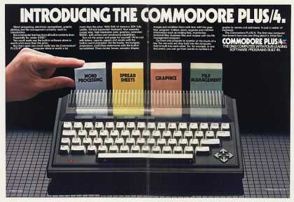 Commodore PLUS/4 Computer 4-Page (1984)