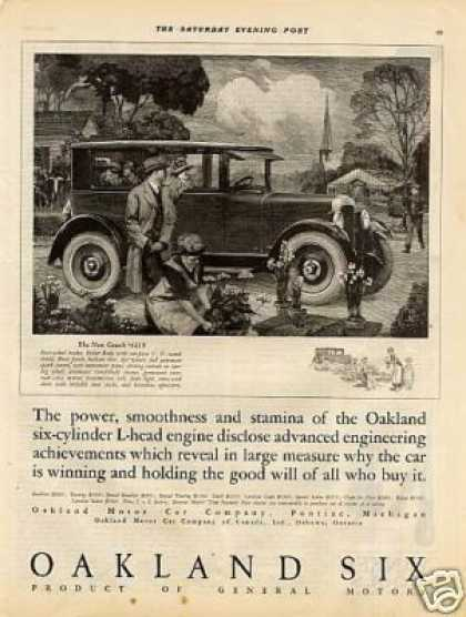 Oakland Coach Ad John Woodruff Art (1925)
