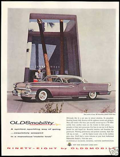Oldsmobile Purple Ninety Eight 98 Photo Vintage (1958)