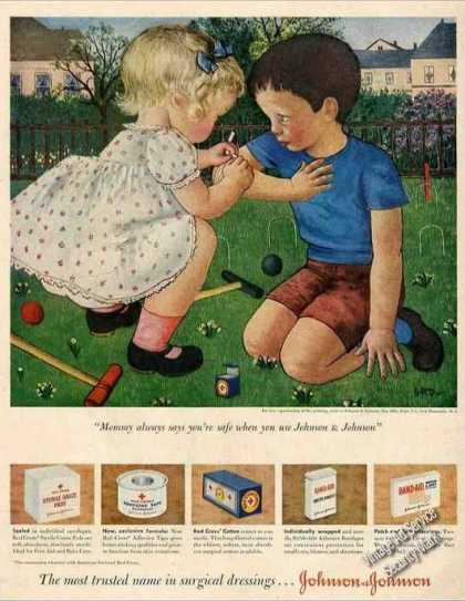 """Band-aids """"Mommy Always Says You're Safe"""" Nice (1951)"""