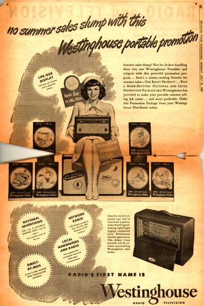 Westinghouse Electric Corporation's Westinghouse promotion package – No summer sales slump with this Westinghouse portable promotion (1947)