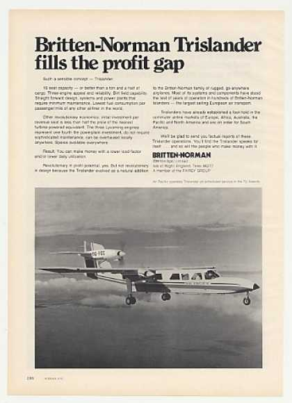 Air Pacific Britten-Norman Trislander Airplane (1975)