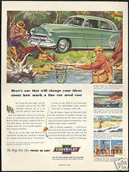 Fly Fisherman Chevrolet Styleline Deluxe Sedan (1952)