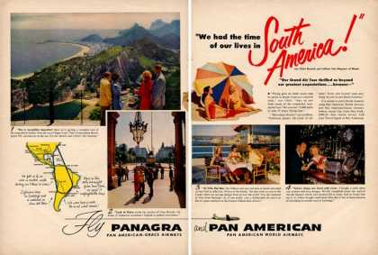 Pan American Panagra South America Plane (1951)