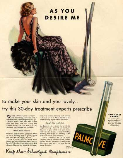 Palmolive Company's Palmolive Soap – As You Desire Me (1933)