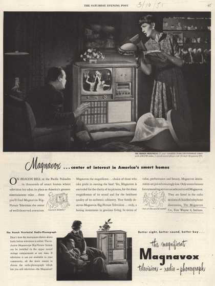 Magnavox Company's Television – Magnavox... center of interest in America's smart homes (1951)