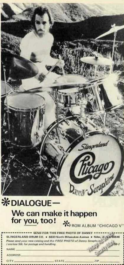 Danny Seraphine Photo Chicago V Slingerland (1974)