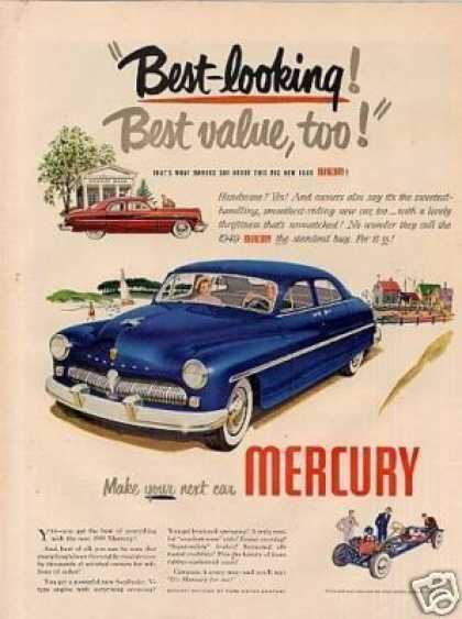 "Mercury Car Ad ""Best Looking... (1949)"
