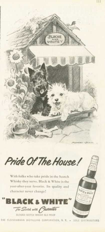 Black & White Scotch Ad Pride of the House! Home (1958)