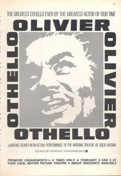 Theatre Othello With Laurence Olivier (1966)