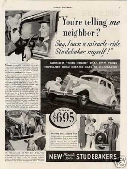 "Studebaker Car Ad ""You're Telling Me... (1935)"