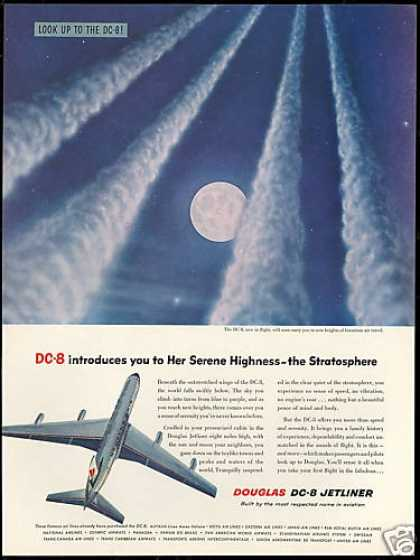 Douglas DC-8 DC8 Jetstream Moon Photo Plane (1958)
