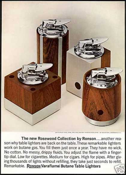 Ronson Rosewood Cigarette Lighter Photo (1968)