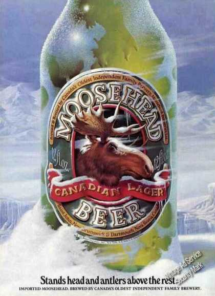 "Moosehead Beer ""Head & Antlers Above the Rest"" (1983)"