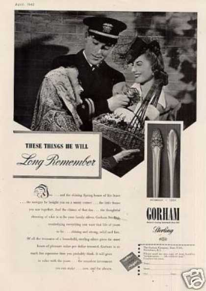 Gorham Sterling Ad Sovereign/lyric (1942)