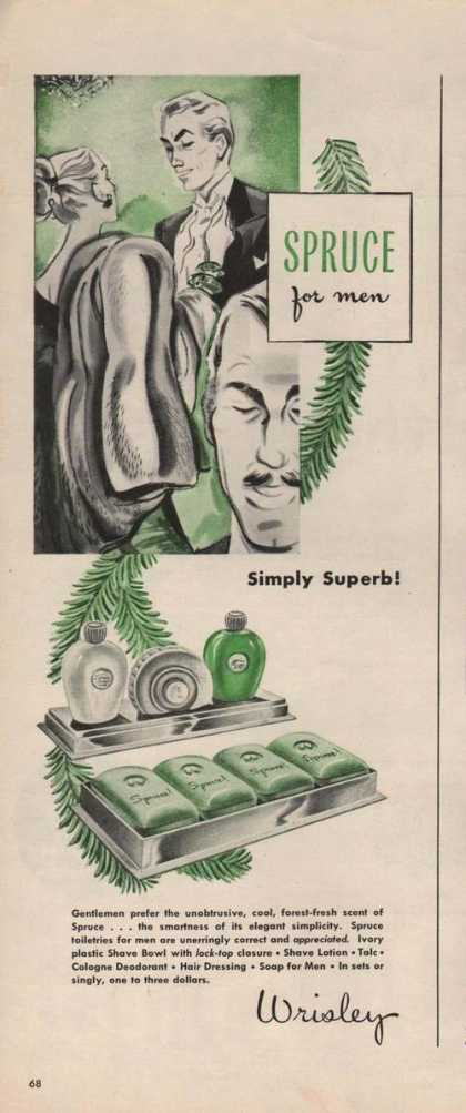 Spruce for Men Simply Superb Wrisley (1946)