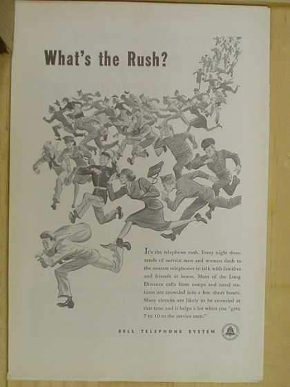 Bell Telephone System. What's the rush? (1941)