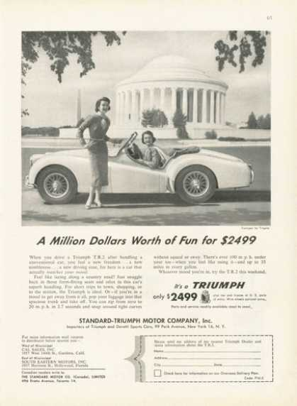 Triumph Tr 2 Sports Car Ad Jefferson Memorial (1955)