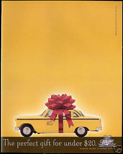 Checker Taxi Cab Photo Miller Beer Perfect (1996)