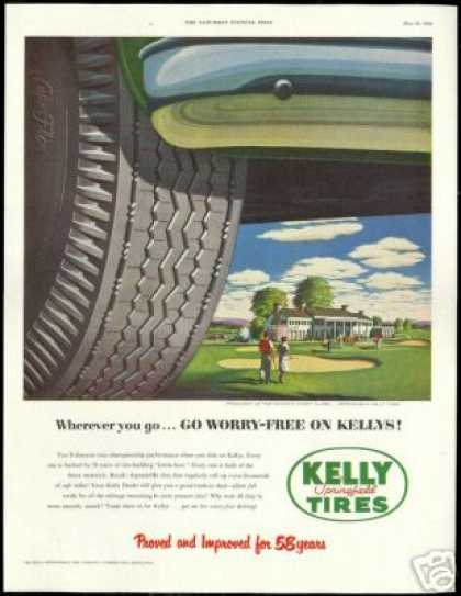 Kelly Tires Golf Club Green Vintage (1952)