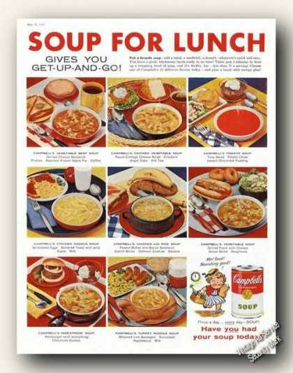 Campbell's Soup for Lunch Campbell Kid (1959)