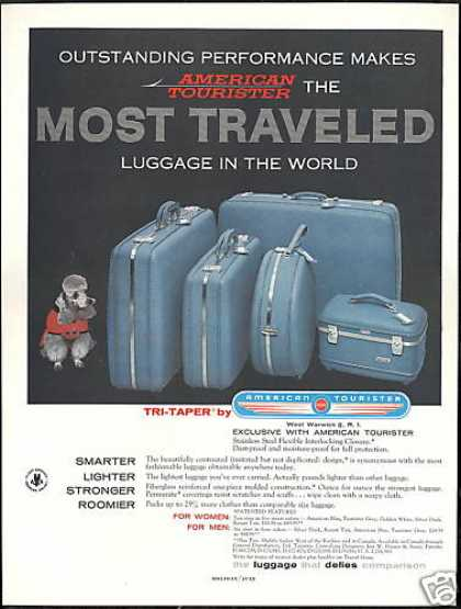 Silver Poodle Dog American Tourister Luggage (1958)