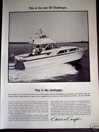 Chris Craft 36' Challenger Cruiser Boat Yacht (1964)
