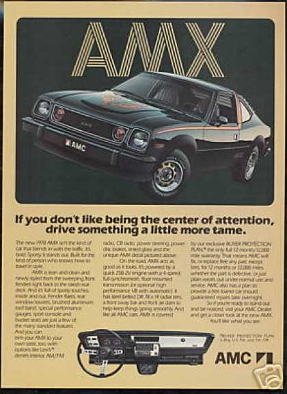 AMC Black AMX Photo Vintage Car (1978)
