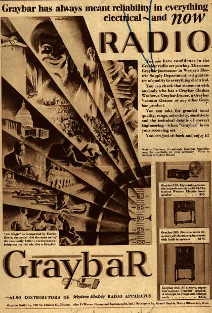 Graybar's Radio – Graybar has Always Meant Reliability in Everything Electrical-and Now Radio (1928)