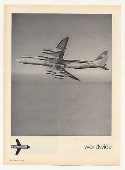 Swiss Air SwissAir Airlines DC-8 Aircraft Photo (1969)