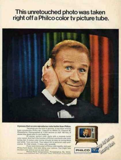 Red Buttons Photo Philco Color Tv (1967)